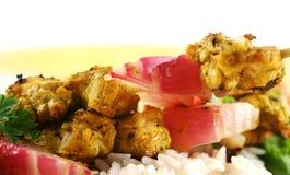 tandoori οβελιδίων κοτόπουλο&u Στοκ Εικόνα