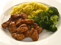 Tandoori with broccoli Stock Images