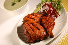 Tandoori chicken. Indian tandoori chicken studio shot Stock Photography