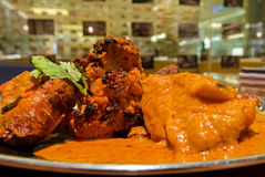 Tandoori Chicken and Butter Chicken Royalty Free Stock Photos