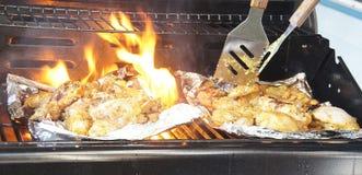 Tandoori chicken cooking Stock Photos