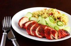 Tandoori chicken dinner Royalty Free Stock Photos