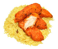 Tandoori Chicken Fillets With Rice Stock Photography