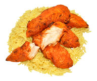 Tandoori Chicken Fillets With Rice Stock Image