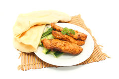 Tandoori chicken and flatbread Royalty Free Stock Photo