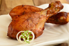 Tandoori Chicken. Chicken Tandoori is a highly popular Indian dish consisting of roasted chicken, yogurt, and spices Royalty Free Stock Photos