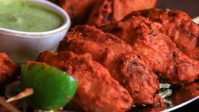 Tandoori chicken momo royalty free stock photography