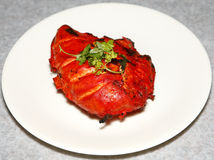 Tandoori chicken in plate Royalty Free Stock Photos