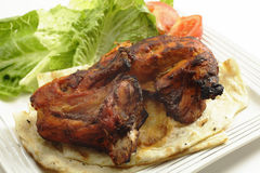 Tandoori chicken side view Stock Photography