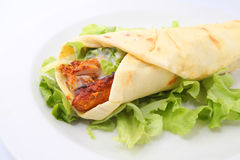 Tandoori chicken wrap Royalty Free Stock Images