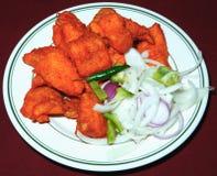 Tandoori Fische in der Platte lizenzfreies stockfoto