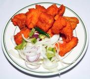 Tandoori fish in plate Royalty Free Stock Images