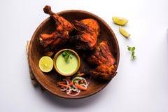 Tandoori kurczak, piec na grillu kurczaka grill lub kurczak lub Obrazy Royalty Free
