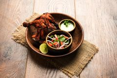 Tandoori kurczak, piec na grillu kurczaka grill lub kurczak lub zdjęcia royalty free