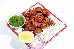 tandoori mushrooms Royalty Free Stock Images