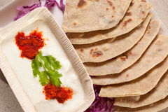 Tandoori Roti is Indian unleavened bread Stock Photo