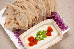 Tandoori Roti is an Indian unleavened bread Stock Photo