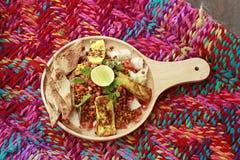 Tandoori Tadka made of warm Tandoori tofu and lentil sprouts with crisp naan bits Stock Photography