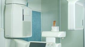 Tandr?ntgenstraalscanner in kliniek stock video