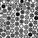 Tandraderenachtergrond - naadloos patroon vector illustratie