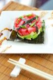 Tandsteen met avocado Royalty-vrije Stock Foto's