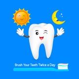 Tandtecken med solen och månen Arkivfoto