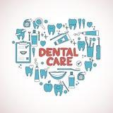 Tandvårdsymboler i formen av hjärta Royaltyfria Foton
