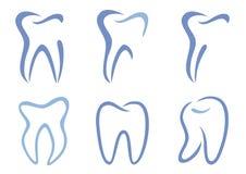 tandvektor stock illustrationer