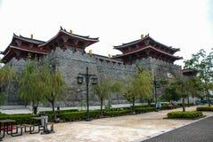 Tang-dynastievesting, de Werf van de Visser van Macao, China. royalty-vrije stock fotografie