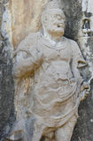 The Tang Dynasty Buddhist Sculpture stock images
