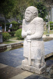 Tang dynasty general stone statue Royalty Free Stock Image