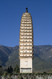 Tang Dynasty Three Pagodas, Dali, Yunnan, China Royalty Free Stock Photo