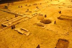 tang för lokal för arkeologichengdu dynasti arkivfoto