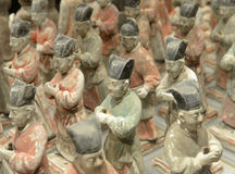 Tang figurines stock photography