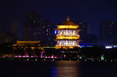 Tang Paradise. Night scenes of xian tang paradise gardens,shaanxi,china Stock Photography