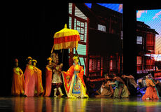"""Tang Princess Wencheng-Large scale scenarios show"""" The road legend"""". The drama about a Han Princess and king of Tibet Song Xan Gan Bbu and the story Stock Image"""
