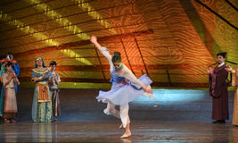 """Tang Shiyi-Dance drama """"The Dream of Maritime Silk Road"""". Dance drama """"The Dream of Maritime Silk Road"""" centers on the plot of two generations of stock image"""