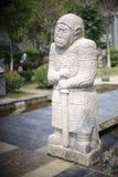 Tang-standbeeld van de dynastie het algemene steen Royalty-vrije Stock Afbeelding