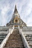 Tanga de Wat Phu Khao, Ayutthaya Foto de Stock