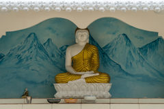 TANGALLE SRI LANKA - Januari 01, 2017: Buddhastaty på temen Royaltyfria Foton