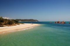Tangalooma Wracke auf Moreton Insel Lizenzfreies Stockfoto