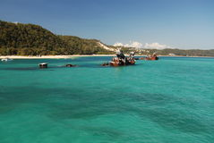 Tangalooma Wrecks on Moreton Island. In Queensland, Australia. This is a popular place for kayaking and snorkelling Stock Photos
