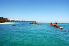 Tangalooma Wrecks on Moreton Island Stock Photo