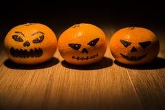 Tangarines φαναριών του Jack o Στοκ Φωτογραφία