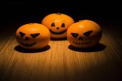 Tangarines de la linterna de Jack o imágenes de archivo libres de regalías