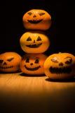 Tangarines o'lantern de Jack Imagenes de archivo