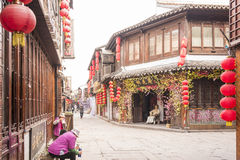 Tangdong street in the morning royalty free stock photography