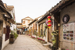 Tangdong street in the morning Stock Photo