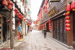 Tangdong street in the morning royalty free stock image