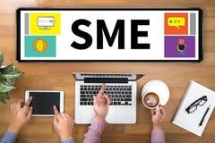 TANGENT för SME eller för små och medelstora företag TILL SME-FRAMGÅNG Arkivbilder